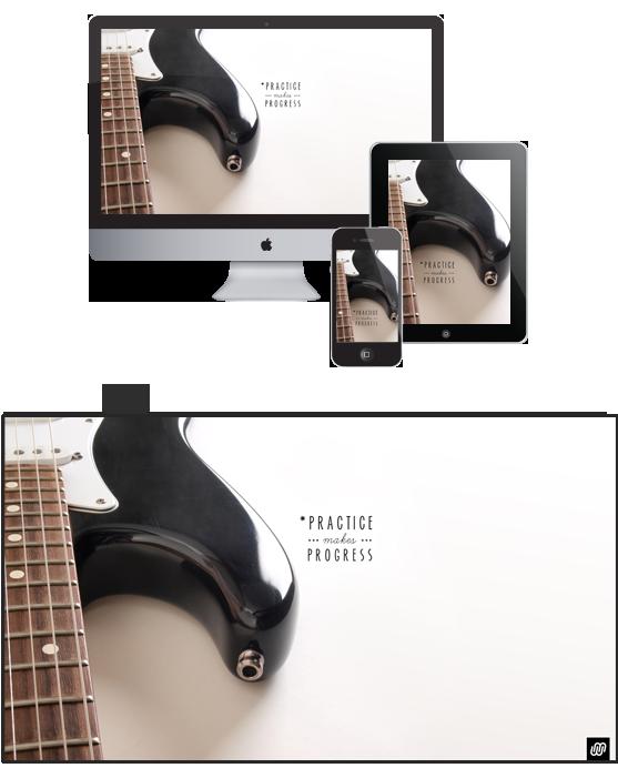 FREE guitar desktop, iPad and iPhone wallpaper