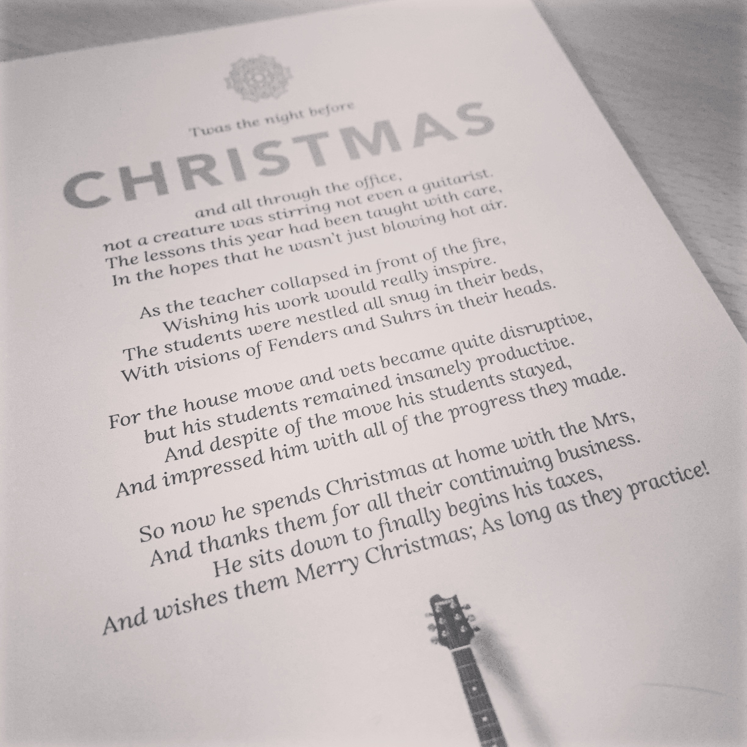 guitar christmas card